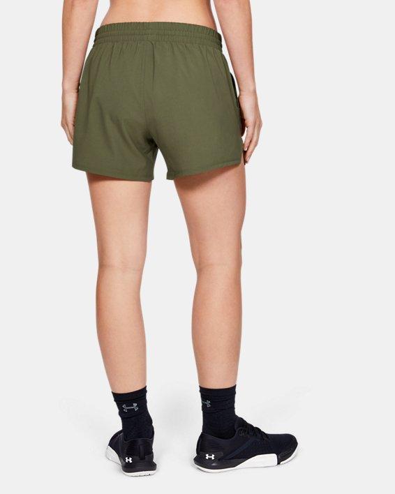 Women's UA Tactical PT Shorts, Green, pdpMainDesktop image number 2
