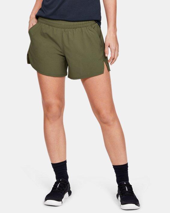 Women's UA Tactical PT Shorts, Green, pdpMainDesktop image number 0