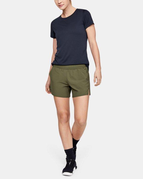 Women's UA Tactical PT Shorts, Green, pdpMainDesktop image number 1