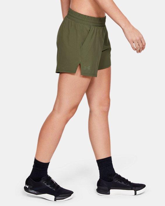 Women's UA Tactical PT Shorts, Green, pdpMainDesktop image number 3