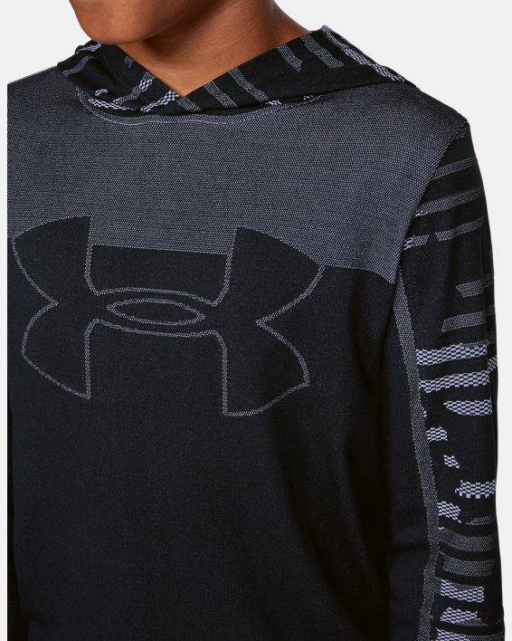 Boys' UA Seamless Hoodie, Black, pdpMainDesktop image number 5