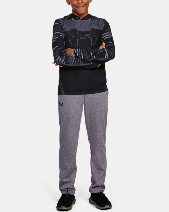 Boys' UA Seamless Hoodie, Black, pdpMainDesktop image number 1