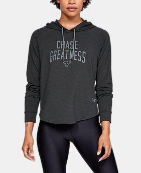 New Arrival Women's UA x Project Rock Chase Greatness Hoodie FREE U.S. SHIPPING 1  Color Available $70