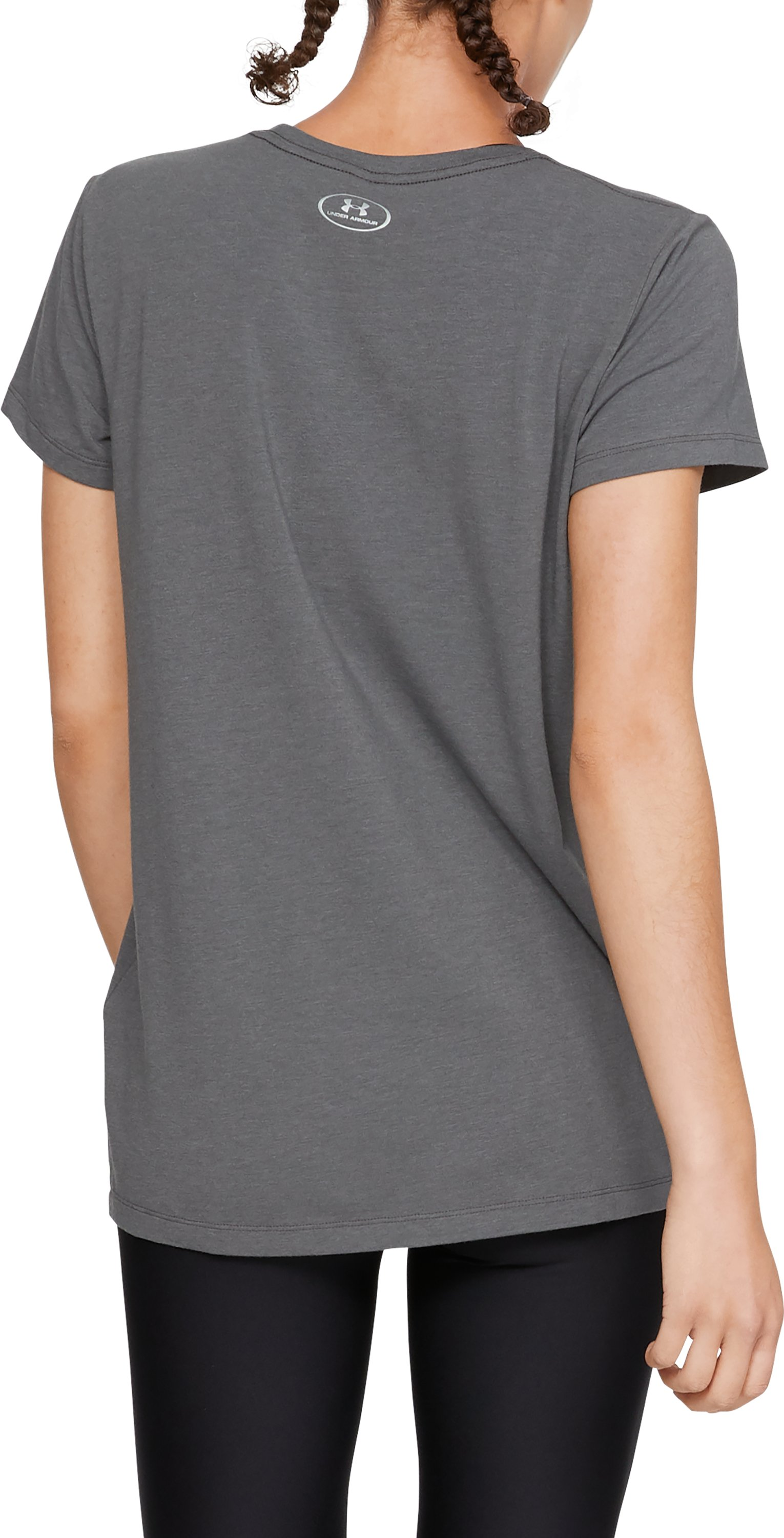 Women's UA x Project Rock Flex Kavana Short Sleeve, Charcoal Light Heather,