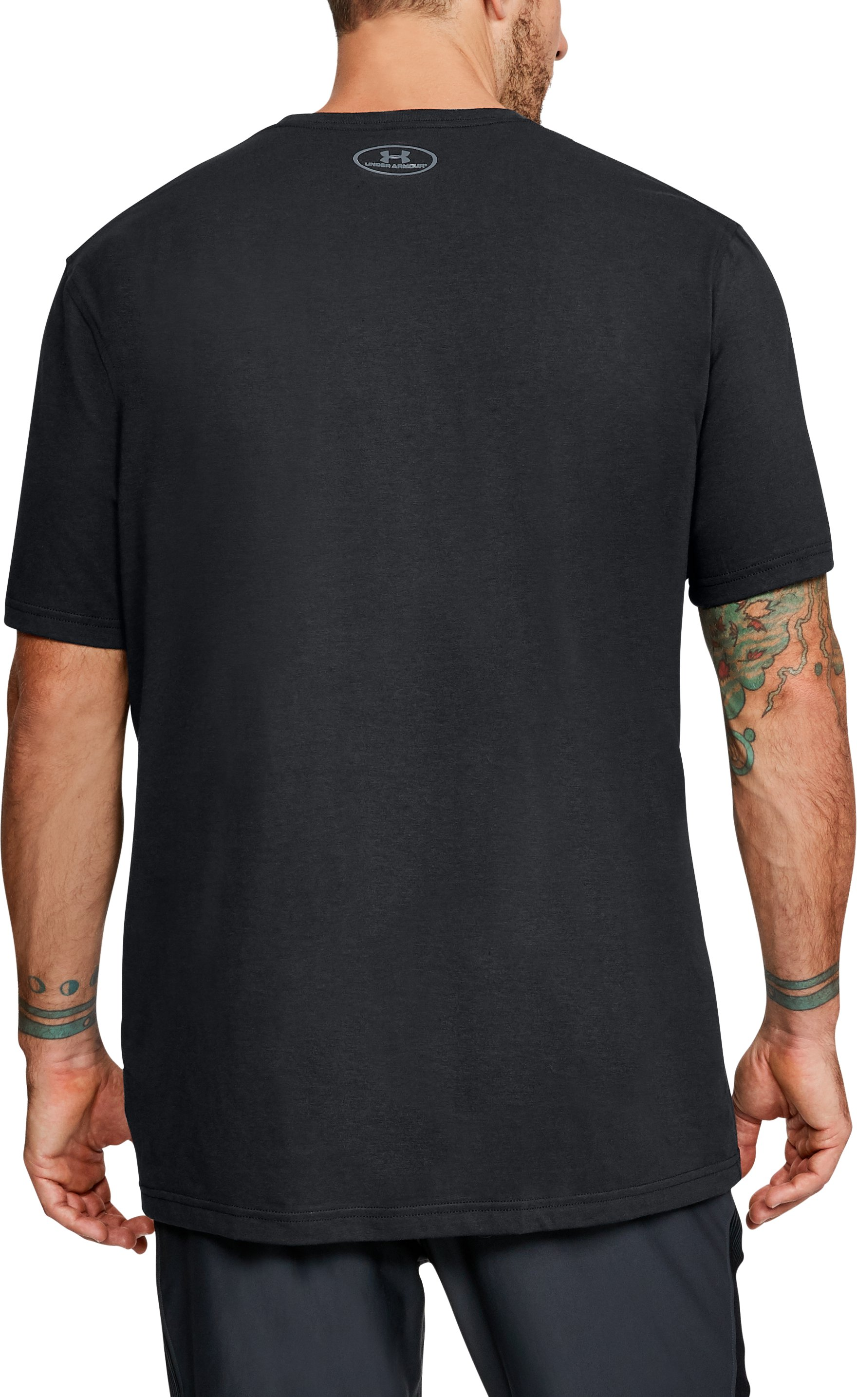 Men's UA Run Everywhere Short Sleeve, Black ,