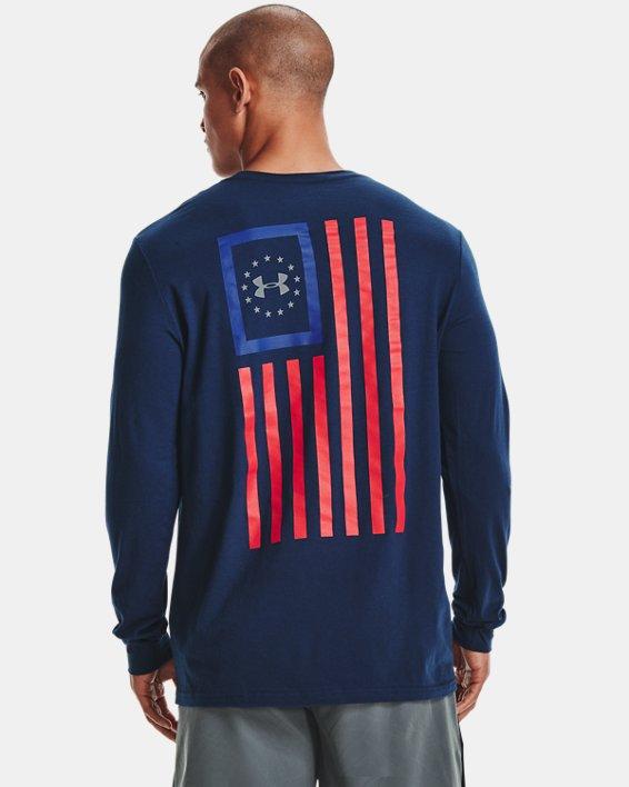 Men's UA Freedom New Flag Long Sleeve, Navy, pdpMainDesktop image number 0