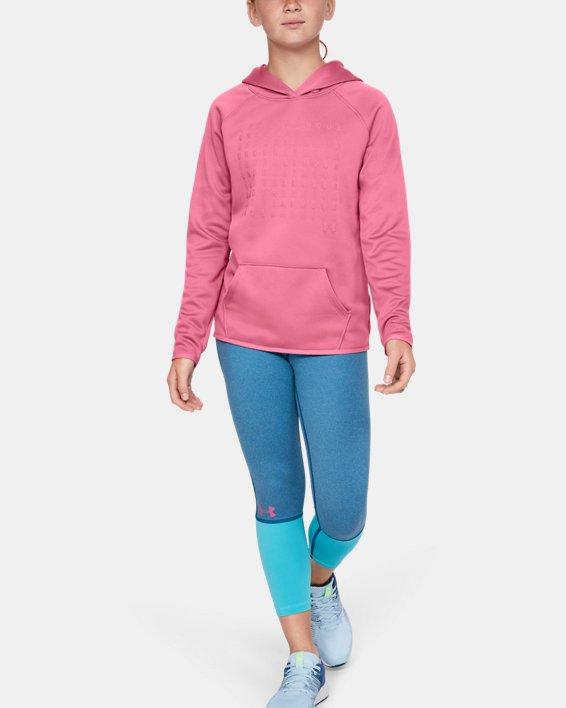 Girls' Armour Fleece® Branded Hoodie, Pink, pdpMainDesktop image number 1