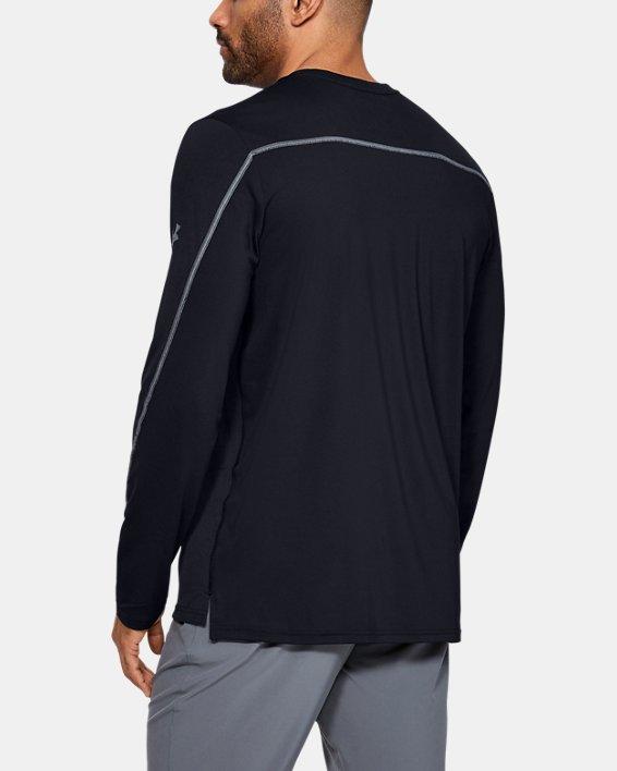 Men's UA Sun Armour Graphic Long Sleeve, Black, pdpMainDesktop image number 2