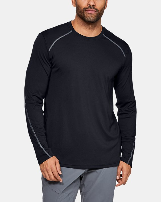 Men's UA Sun Armour Graphic Long Sleeve, Black, pdpMainDesktop image number 0