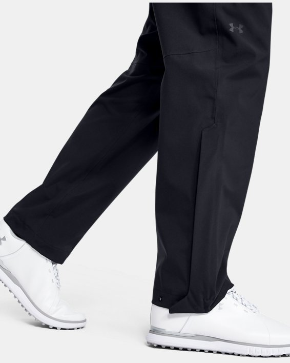 Women's UA Golf Rain Pants, Black, pdpMainDesktop image number 5
