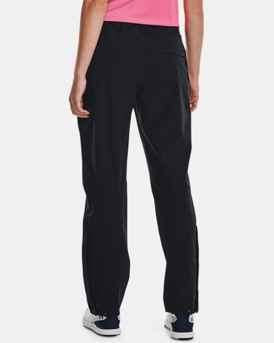 Women's UA Golf Rain Pants, Black, pdpMainDesktop image number 2
