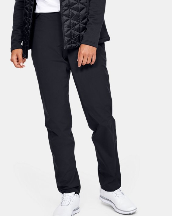 Women's UA Golf Rain Pants, Black, pdpMainDesktop image number 0