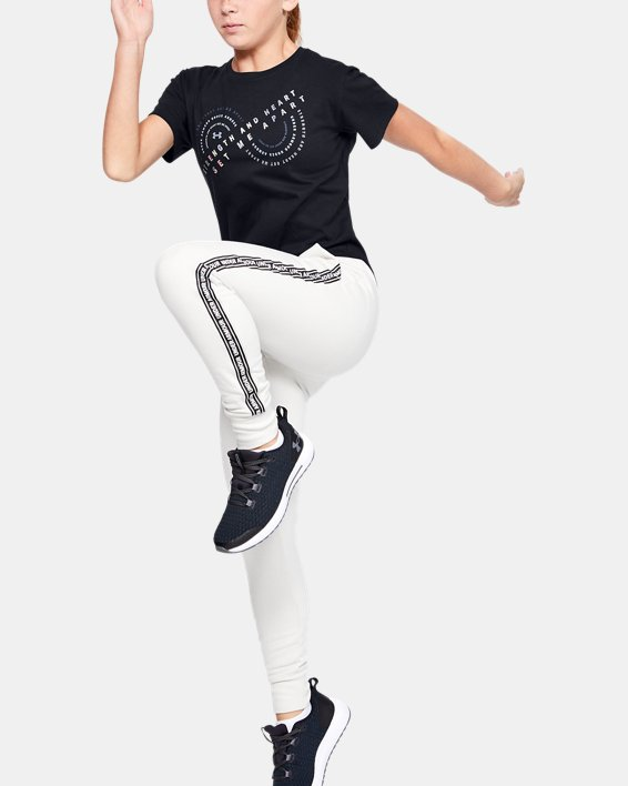 Girls' UA Strength & Heart Short Sleeve, Black, pdpMainDesktop image number 0