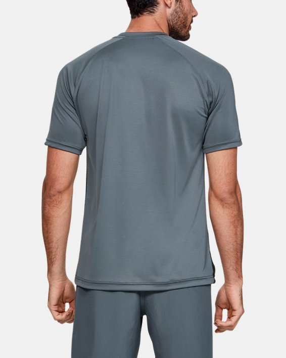 Men's UA Accelerate Premier Short Sleeve, Gray, pdpMainDesktop image number 2