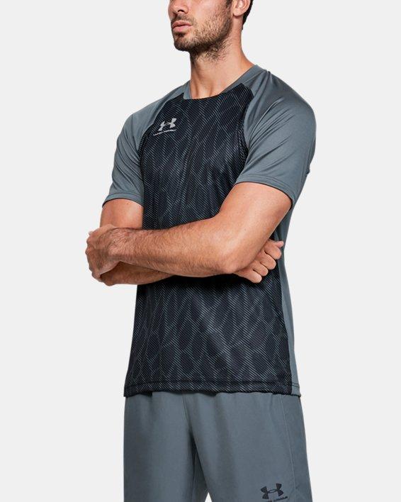 Men's UA Accelerate Premier Short Sleeve, Gray, pdpMainDesktop image number 0