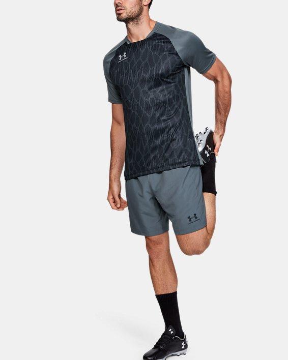 Men's UA Accelerate Premier Short Sleeve, Gray, pdpMainDesktop image number 1