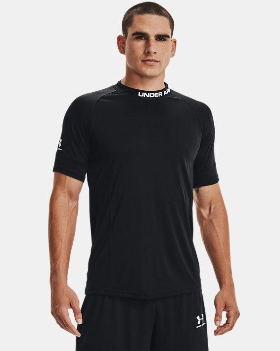 Men's UA Challenger III Training Short Sleeve, Black, pdpMainDesktop image number 2