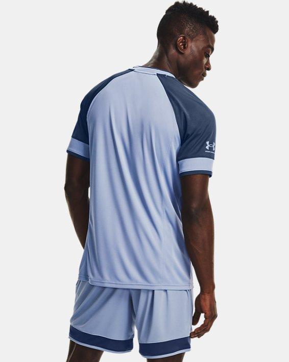 Men's UA Challenger III Training Short Sleeve, Blue, pdpMainDesktop image number 2