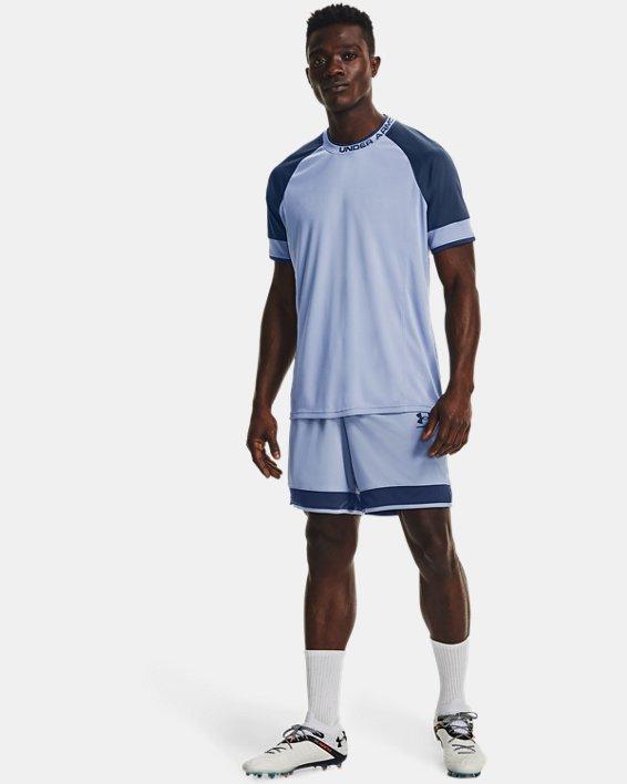 Men's UA Challenger III Training Short Sleeve, Blue, pdpMainDesktop image number 0