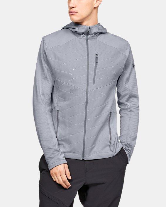 Men's ColdGear® Reactor Exert Jacket, Gray, pdpMainDesktop image number 0