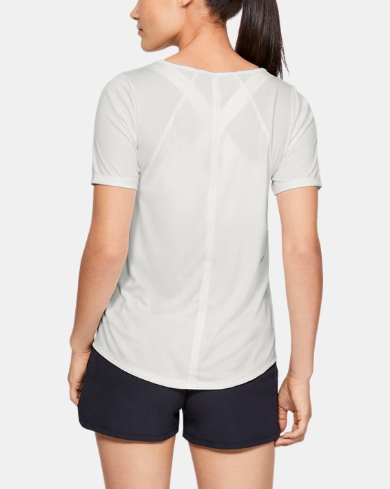 Women's UA Sun Armour ½ Sleeve, White, pdpMainDesktop image number 2