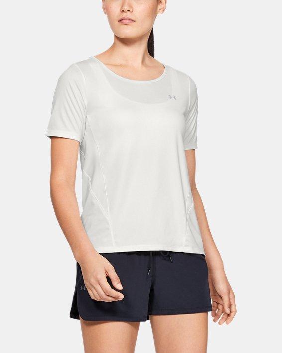 Women's UA Sun Armour ½ Sleeve, White, pdpMainDesktop image number 0