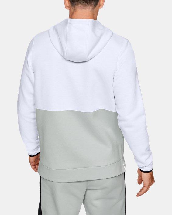 Sweat à capuche UARecover Fleece Graphic pour homme, White, pdpMainDesktop image number 2