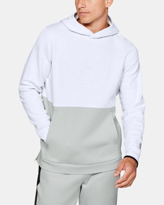 Sweat à capuche UARecover Fleece Graphic pour homme, White, pdpMainDesktop image number 0
