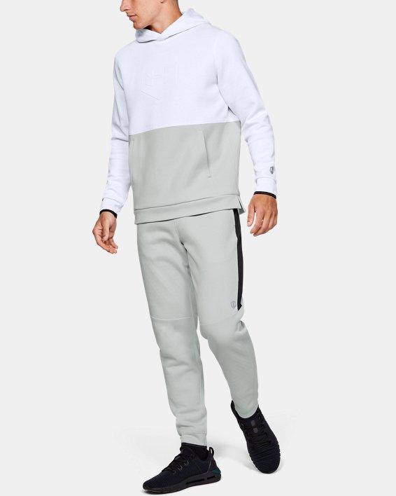 Sweat à capuche UARecover Fleece Graphic pour homme, White, pdpMainDesktop image number 1
