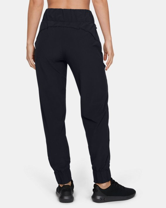 Women's UA Unstoppable Storm Woven High Waist Pants, Black, pdpMainDesktop image number 2