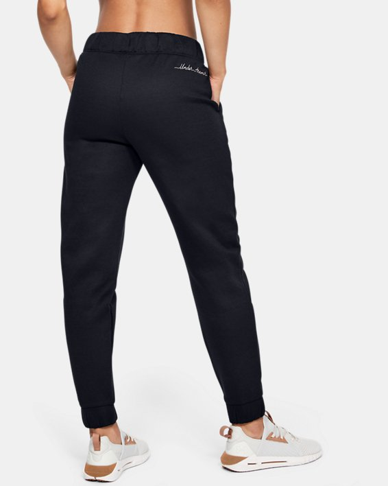 Women's UA RECOVER™ Fleece Pants, Black, pdpMainDesktop image number 2