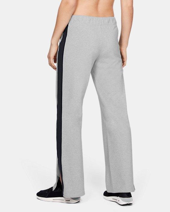 Women's UA Favorite Open Hem Side Split Pants, Gray, pdpMainDesktop image number 2