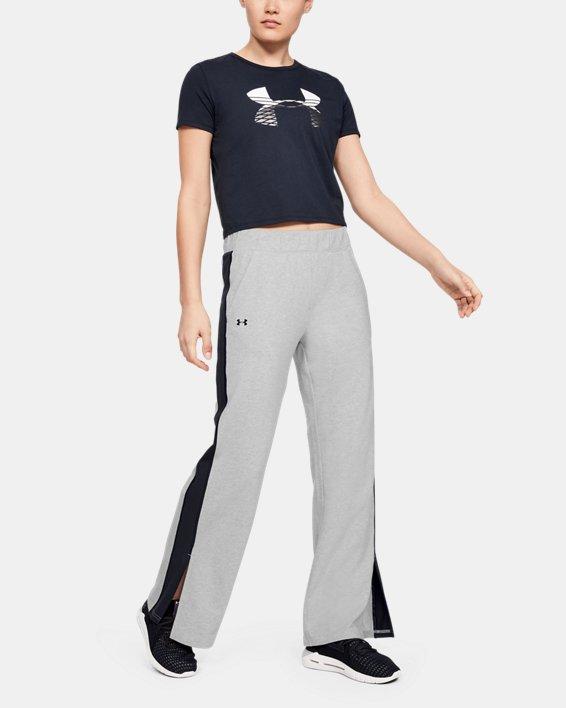 Women's UA Favorite Open Hem Side Split Pants, Gray, pdpMainDesktop image number 0