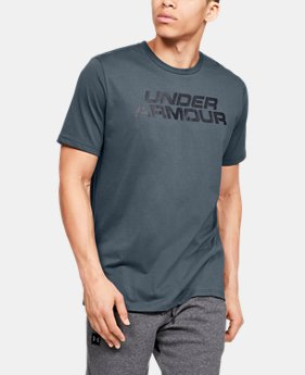 993134e39 New Arrival Men's UA Stacked Wordmark Short Sleeve 2 Colors Available $25