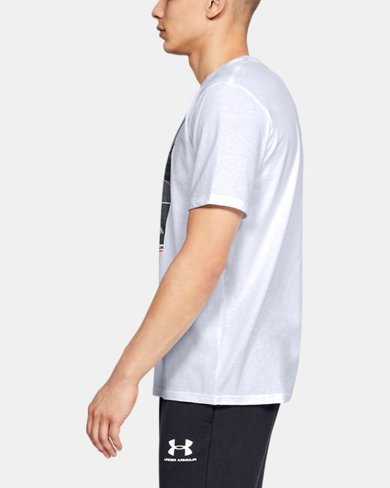 Men's UA Ascend Short Sleeve, White, pdpMainDesktop image number 3