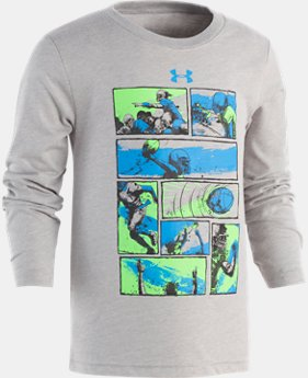 Boys' Pre-School UA Football Comic Long Sleeve Shirt  1  Color Available $23