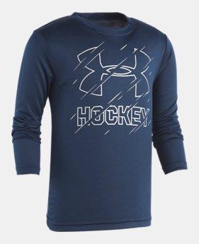 49a4259f60c6 Boys  Pre-School UA Hockey Long Sleeve Shirt 1 Color Available  27