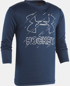 Boys' Pre-School UA Hockey Long Sleeve Shirt  1  Color Available $27