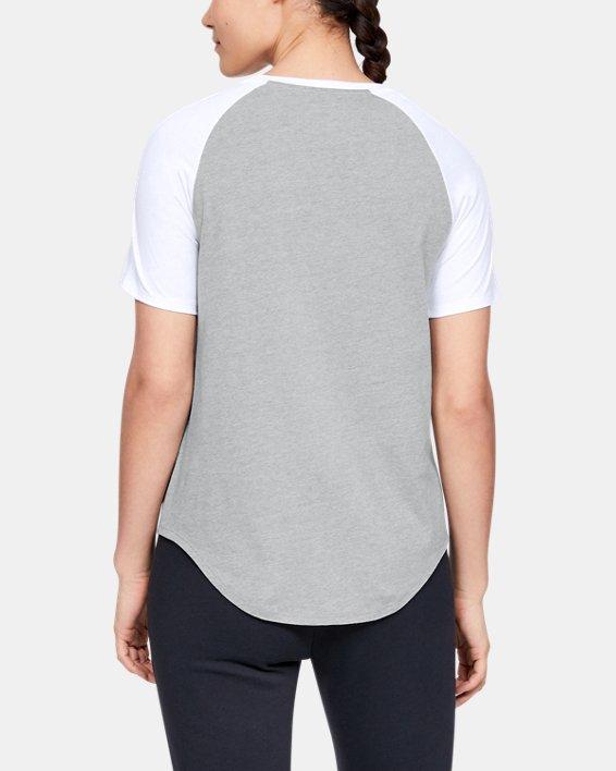 Women's UA Fit Kit Baseball T-Shirt, Gray, pdpMainDesktop image number 2