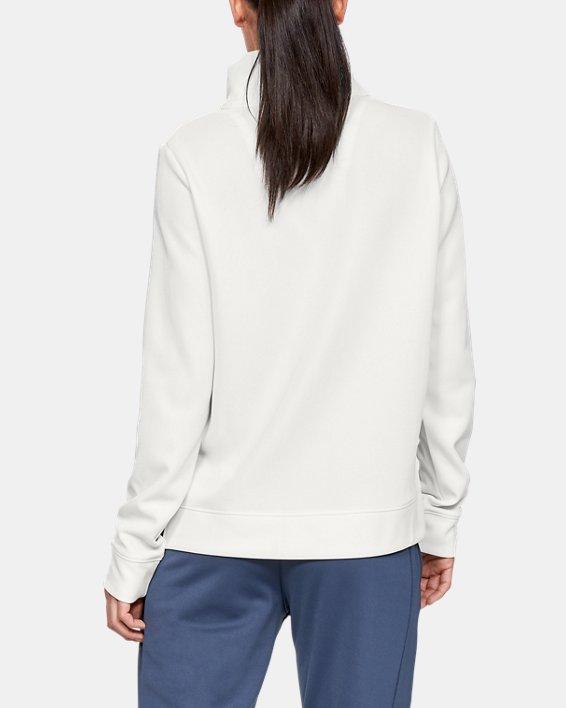 Women's Armour Fleece® Mirage Mock, White, pdpMainDesktop image number 2