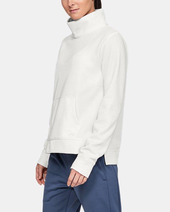 Women's Armour Fleece® Mirage Mock, White, pdpMainDesktop image number 0