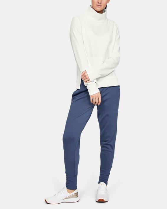 Women's Armour Fleece® Mirage Mock, White, pdpMainDesktop image number 1