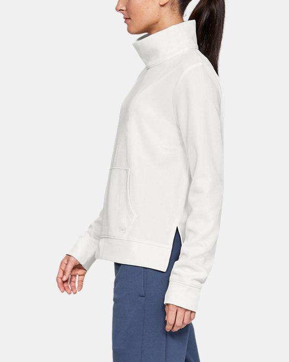 Women's Armour Fleece® Mirage Mock, White, pdpMainDesktop image number 3