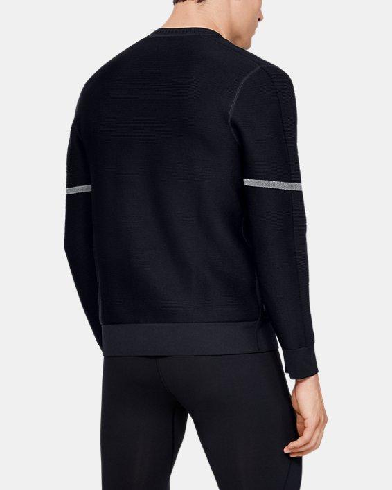 Men's UA ItelliKnit Phantom Sweater, Black, pdpMainDesktop image number 2