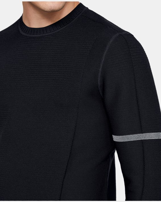 Men's UA ItelliKnit Phantom Sweater, Black, pdpMainDesktop image number 6