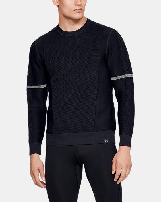 Men's UA ItelliKnit Phantom Sweater, Black, pdpMainDesktop image number 0