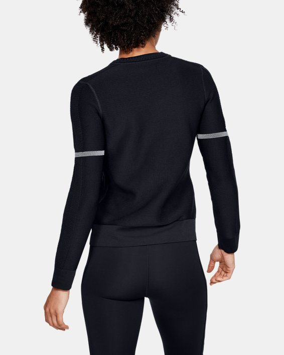 Sweat-shirt UA IntelliKnit pour femme, Black, pdpMainDesktop image number 2