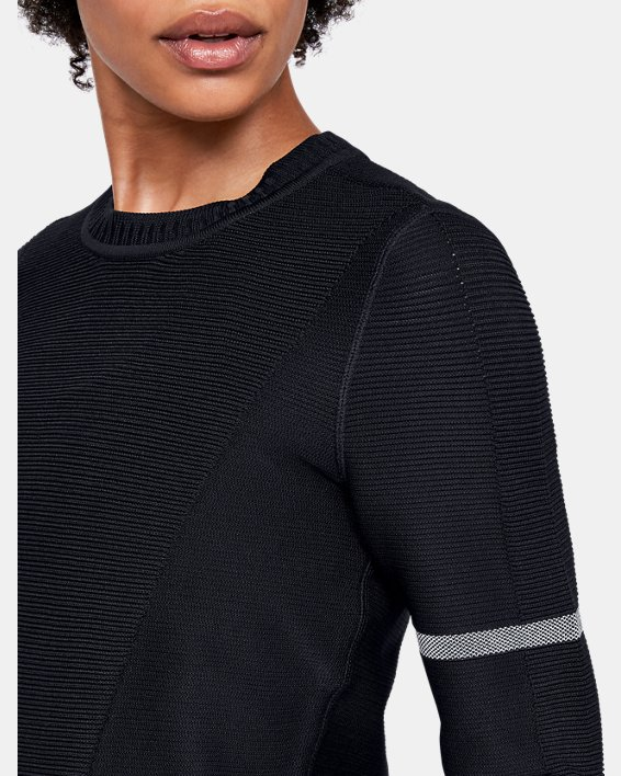 Sweat-shirt UA IntelliKnit pour femme, Black, pdpMainDesktop image number 6