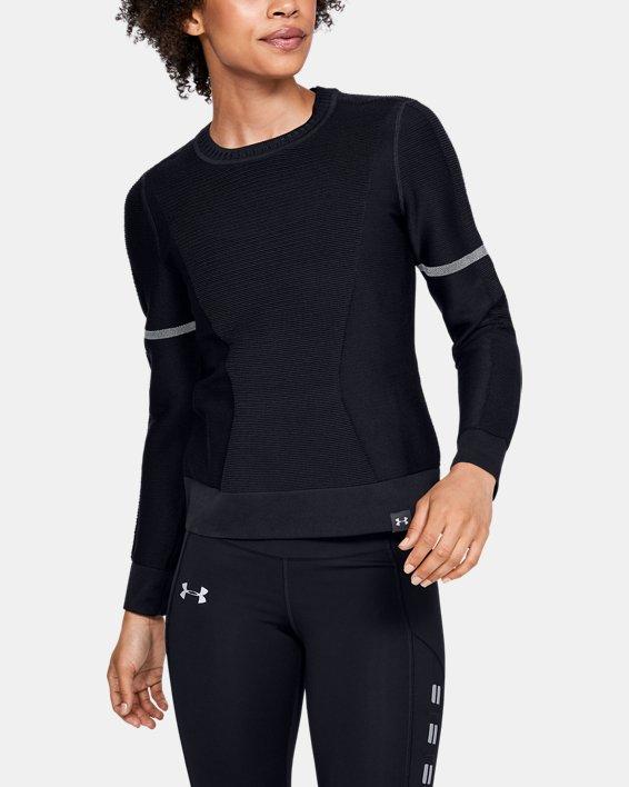 Sweat-shirt UA IntelliKnit pour femme, Black, pdpMainDesktop image number 0