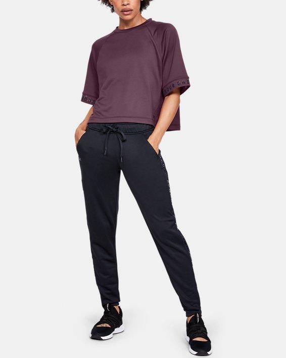 Women's UA Tech™ Terry Pullover, Purple, pdpMainDesktop image number 1